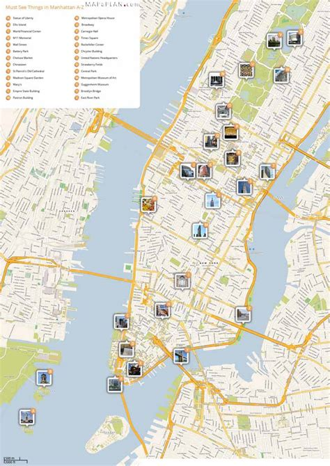 best new york city map maps of new york top tourist attractions free printable