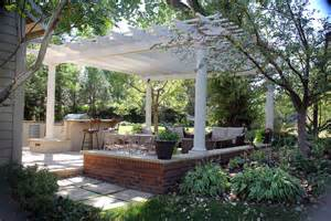 Pergola Fire Pit by Outdoor Entertainment Room Alpine Landscaping