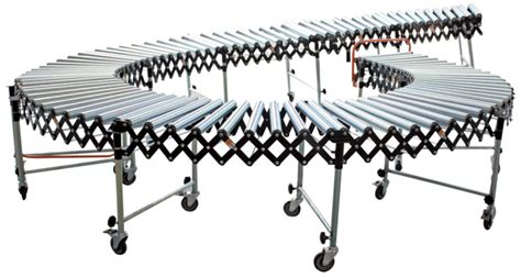 adjustable expandable gravity wheel 9 roller conveyor flexible table t1732 ebay gravity roller flexible conveyors applied in loading docks