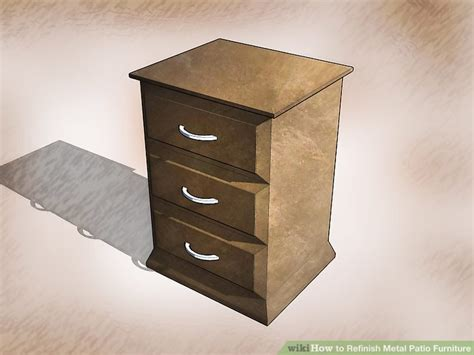 Refinish Metal Patio Furniture How To Refinish Metal Patio Furniture 15 Steps With Pictures
