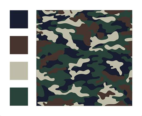 trendy camo clothing army seamless patterns