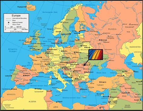 where is romania on a map our project location