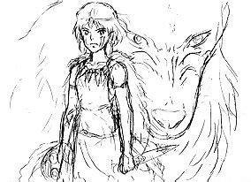 princess mononoke coloring pages princess mononoke moro coloring pages coloring pages