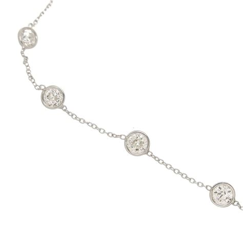 diamonds by the yard platinum necklace at 1stdibs