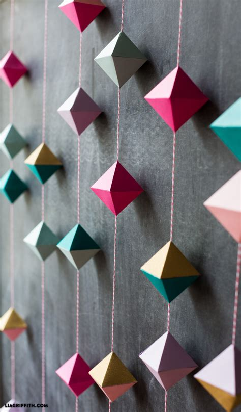 How To Make Garland Out Of Paper - diy paper geode garland lia griffith