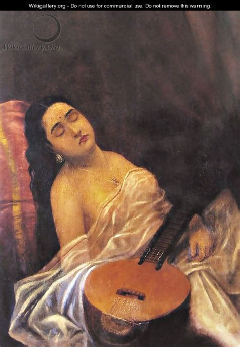 biography of artist raja ravi verma sleeping beauty raja ravi varma wikigallery org the