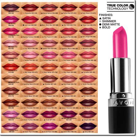 Avon Lipstick Guide 1000 images about avon lipstick on feelings technology and colors