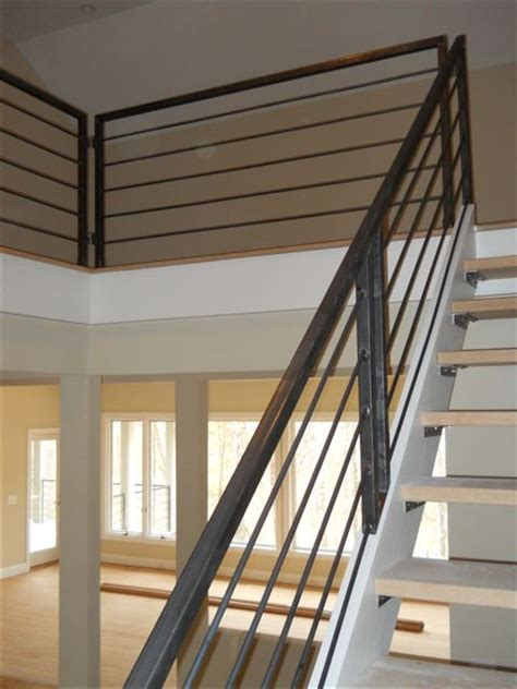Handrails For Stairs Interior Interior Metal Stair Railing Newsonair Org