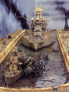 Scale Models Awesome Battleship Uss Pennsylvania And Destroyers Uss