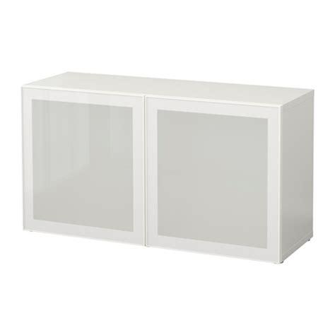 besta glassvik best 197 estanter 237 a con puertas de vidrio blanco glassvik