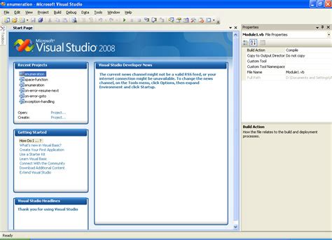 tutorial visual basic script pdf open existing project in vb net