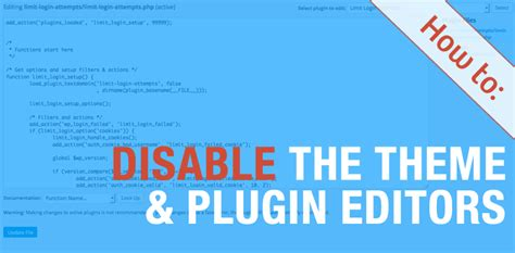 wordpress theme editor disable wp admin user plugin editor php archives carspart