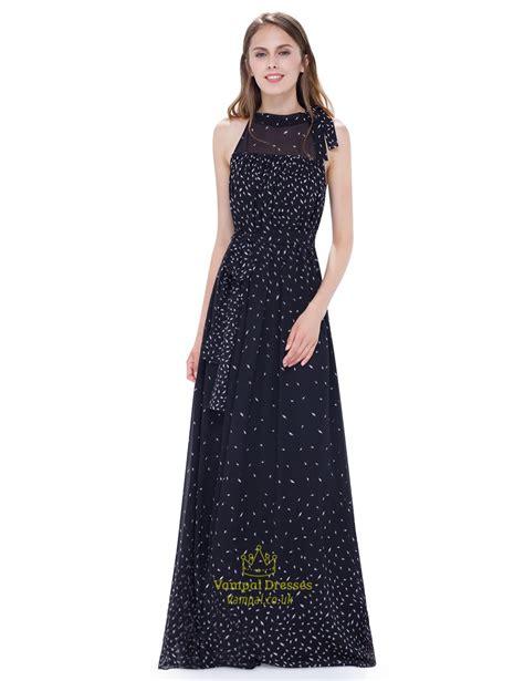 Halter Chiffon Maxi Dress black halter illusion neckline floor length a line chiffon
