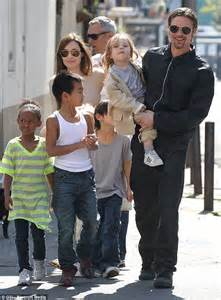Happy family brad is seen with his partner angelina jolie and their