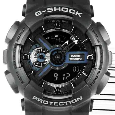 Casio G Shock Ga 110 White Ga 110 1bdr Ga110 Casio G Shock World Time Alarm Analog
