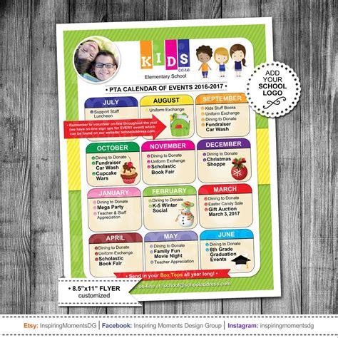 event flyer printable pta calendar ptn calendar
