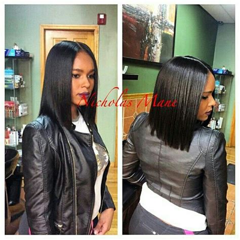 middle part black hairstyles black bob with middle part pinterest tamaracrespo86