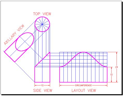 autocad tutorial orthographic orthographic projection for ducts in autcad