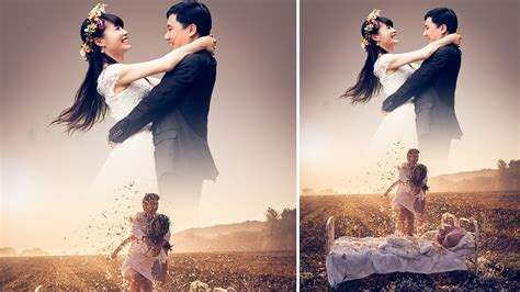 Tutorial Photoshop Untuk Foto Pre Wedding | photoshop tutorial simple pre wedding manipulation youtube