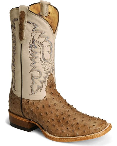 ostrich boots nocona quill ostrich western cowboy boots square
