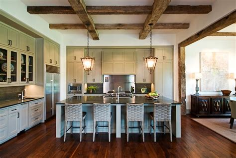 exposed wood beams exposed wood beams ceiling transitional kitchen
