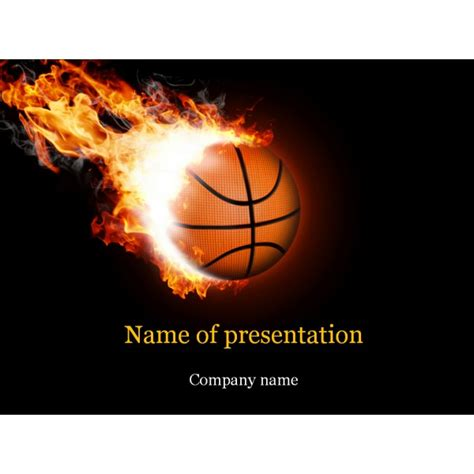 powerpoint themes basketball basketball ball powerpoint template background for