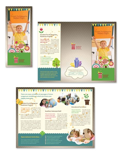 preschool brochure template preschool education tri fold brochure template