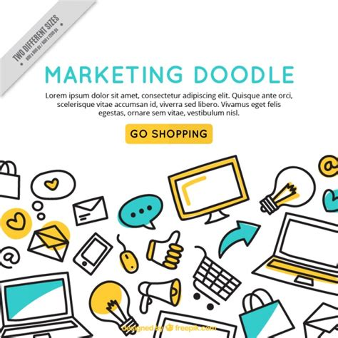 how to make a doodle edit marketing doodle background template vector free