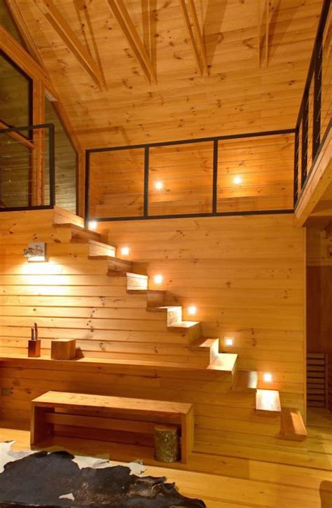 modern staircases  spectacular lighting
