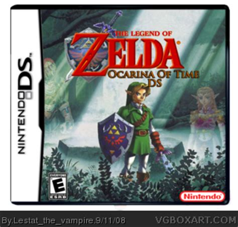 the legend of ocarina of time nintendo wiki fandom powered by wikia the legend of ocarina of time ds nintendo ds box cover by lestat the vire