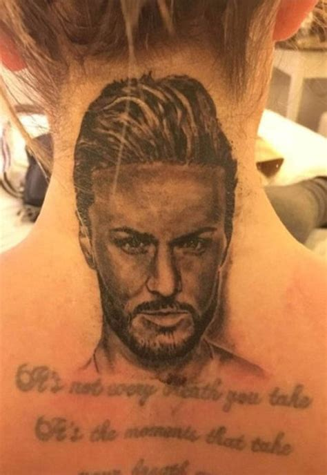 kyle christie gets another tattoo after inking his face on