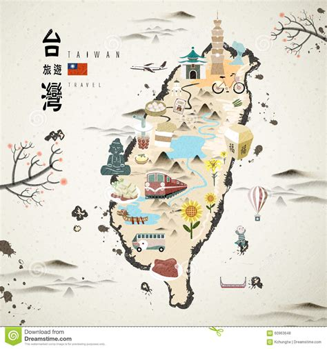 Mba In Taipei by Taiwan Travel Map Stock Illustration Image Of Lantern