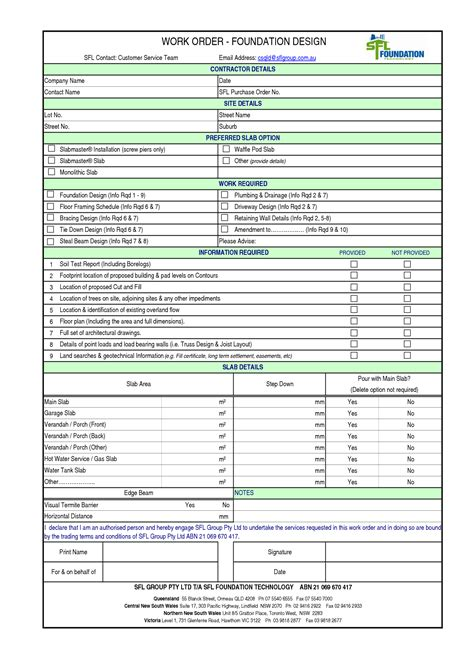 Construction Scope Of Work Template Excel Work Template