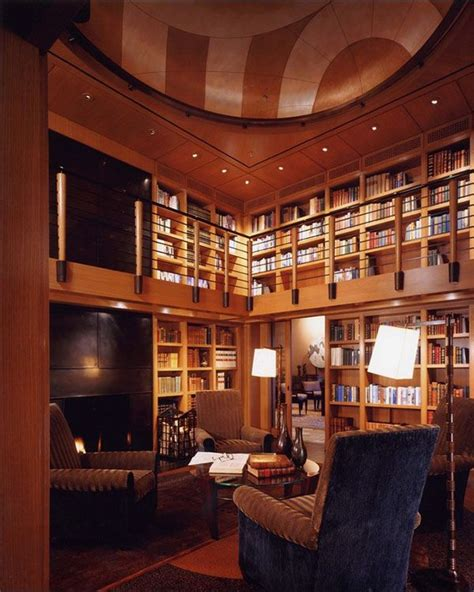 beautiful home library design ideas house