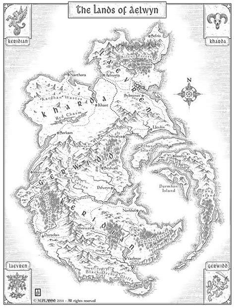 Aelwyn   D&D Resources in 2019   Fantasy world map