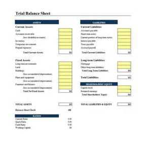 Real Estate Balance Sheet Template by 38 Free Balance Sheet Templates Exles Template Lab