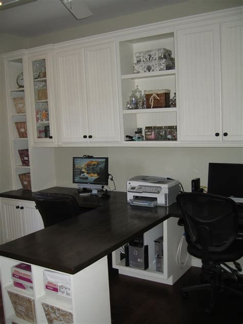 Built In Office Desk Ideas Remodelaholic Beautiful Custom Built In Home Office