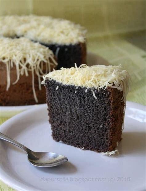 cara membuat kue bolu ketan item dapur solia chiffon ketan hitam