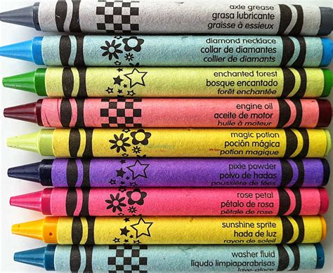 exotic color names the crayon blog rare and not rare a visual look at