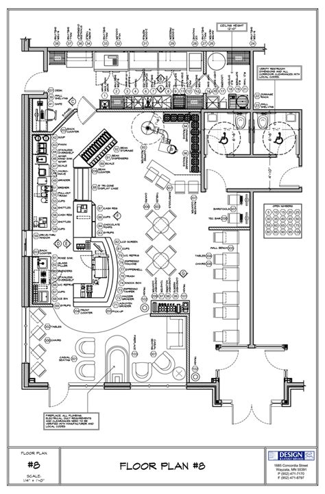 design proposal for cafe coffee shop floor plan day care center pinterest