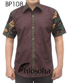 Special Kemeja Casual Pria Pl 0 Baju Cowok Semi Formal Slimfit Katun batik kombinasi kain polos rajapadmi batik kemeja batik pria batik modern 2016 seragam batik