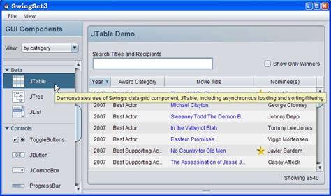 themes in java swing programowanie gui komponenty wizualne i kontenery
