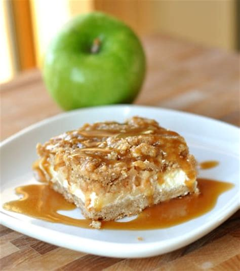 caramel apple cheesecake bars with streusel topping caramel apple cheesecake bars with streusel