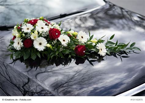 Hochzeitsschmuck Für Auto blumendeko f 195 188 r den autoschmuck der hochzeit