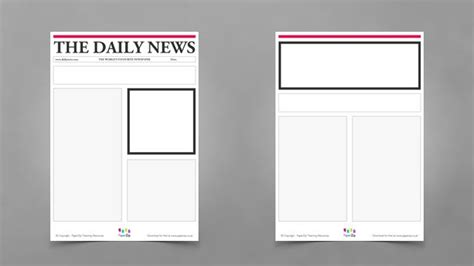 newspaper layout dummy pin by paperzip on literacy pinterest