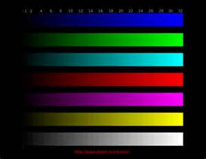 what color are used for which tests in phlebotomy lcd test images without embedded color profiles