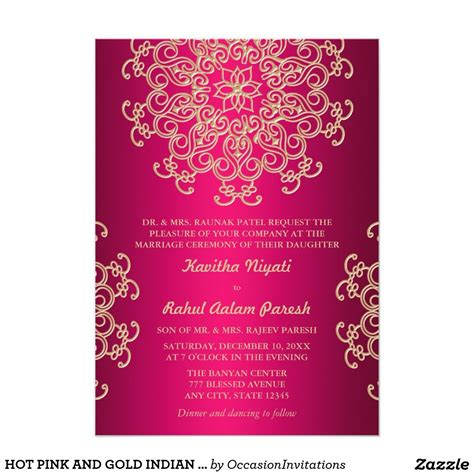 indian hindu wedding invitation cards templates pink and gold indian style wedding invitation