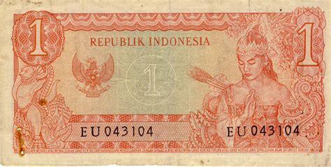 Uang Kuno Uang Kertas Lama Nominal 1 Satu Rupiah Tahun 1961 uang kertas kuno indonesia nominal rp 1 satu rupiah bergambar mantan presiden soekarno