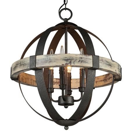 wrought iron orb chandelier industrial rustic wrought iron orb chandelier light
