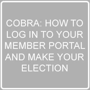cobra: how to log into your member portal and make your